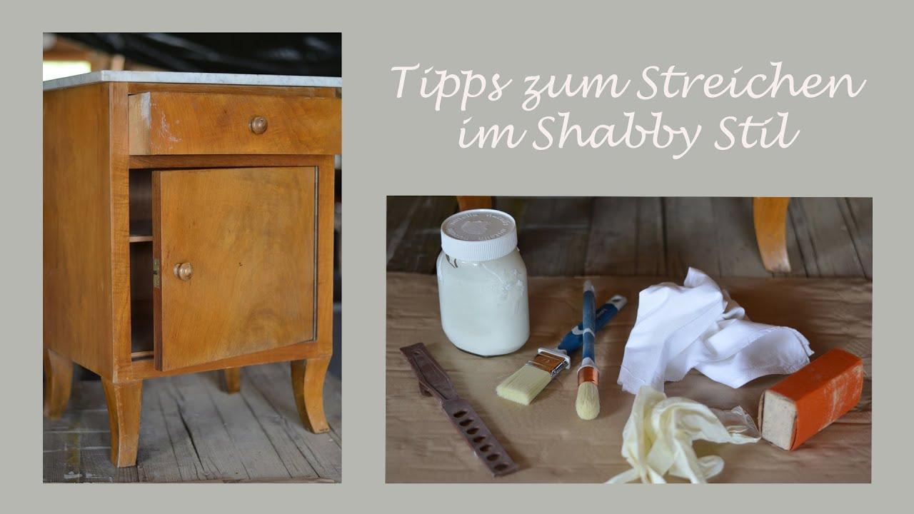 DIY - Möbelstück im Shabby Chic Stil streichen - Wertvolle Tipps und