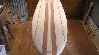 Making hollow wooden Paulownia Egg Surfboard Slideshow.wmv
