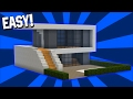 Minecraft: Easy Modern House Tutorial (#1)( Easy ) (PC/PE/Xbox/Playstation/)
