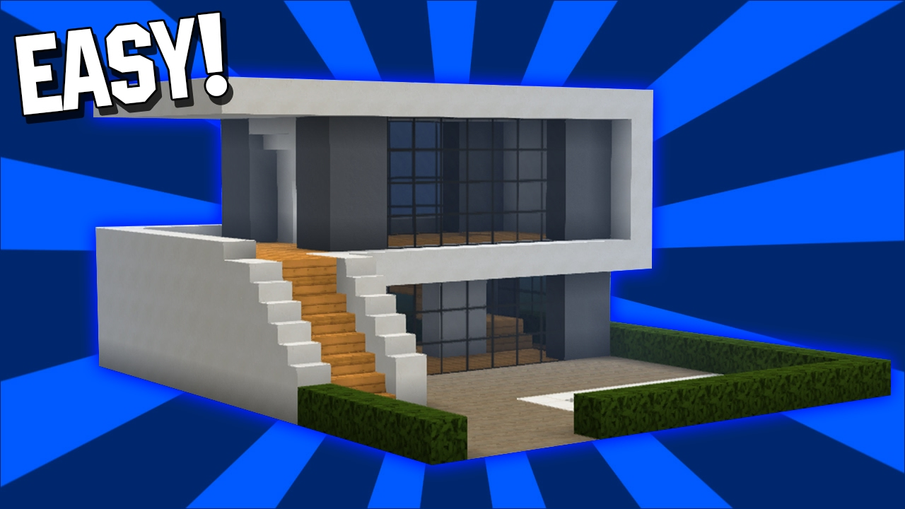 Minecraft: Easy Modern House Tutorial (#1)( Easy ) (PC/PE ...