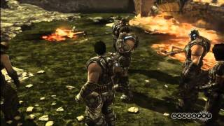 Gears of War 3 Act 2 - Chapter 1: Shipwreck, Part 1 Playthrough (Xbox 360)
