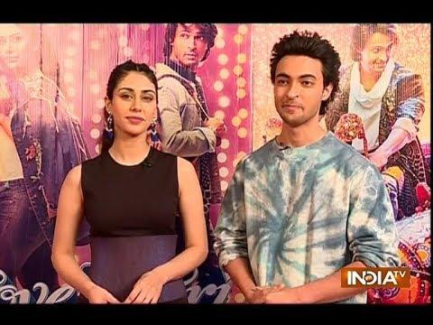 Aayush Sharma and Warina Hussain enjoy promoting Loveratri