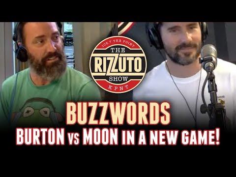 MOON vs BURTON in a new game BUZZWORDS [Rizzuto Show]