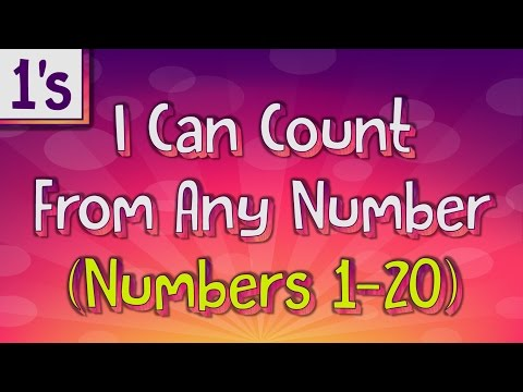 Counting On by 1's | I Can Count From Any Number (Numbers 1-20) | Jack Hartmann