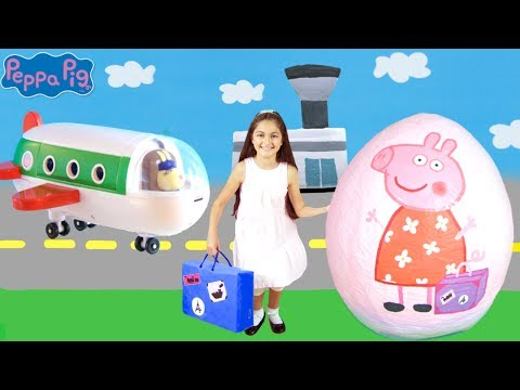 Peppa Pig Surprise Egg Opening! Peppa Pig The Holiday🏖  Peppa Pig Toys Full English Episode