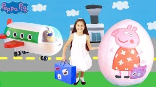 Peppa Pig Giant Surprise Egg Opening! Peppa Pig The Holiday🏖  Peppa Pig Toys Full English Episode