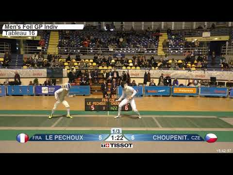 2018 134 M F Individual TURIN ITA GP T16 02 green LE PECHOUX FRA vs CHOUPENITCH CZE