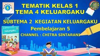 Kelas 1 Tematik : Tema 4 Subtema 2 Pembelajaran 5 (KELUARGAKU)