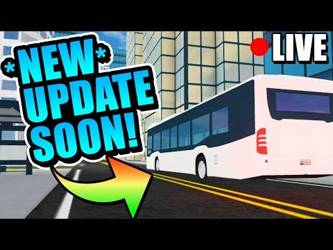 Roblox Vehicle Simulator! NEW UPDATE COUNTDOWN! BUS, HOTROD, & MORE!