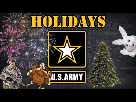 Holidays In The Army