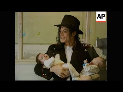 Michael Jackson in Romania (1992) - AP Archive