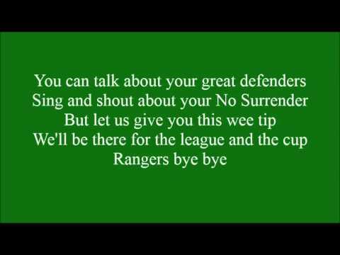 Bye Bye Rangers with lyrics