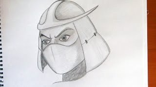 How to draw Shredder from ninja turtles, Cómo dibujar Shredder de las tortugas ninjas