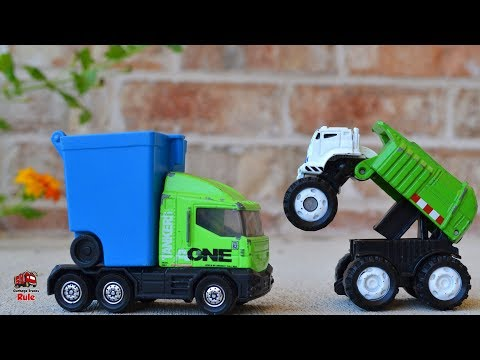 Garbage Truck Videos For Children l Bully Garbage Truck Battles Over Trash l Garbage Trucks Rule