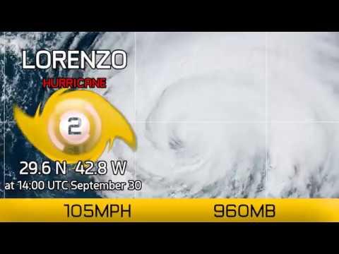 Hurricane Watches for the Azores, Hurricane Lorenzo - 2pm UTC Sept 30