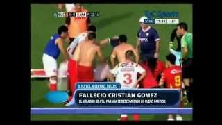 La muerte de Cristian Gómez  (Atlético Parana vs.  Boca Unidos)