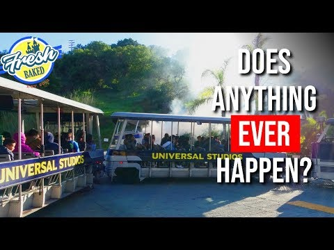 Universal Studios Hollywood Backlot Tour | Does anything EVER happen? | Universal Studios Rides
