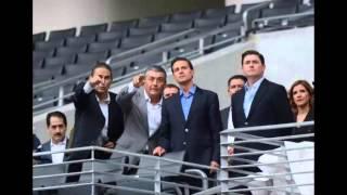 Peña Nieto inauguró el estadio de los Rayados en Nuevo León