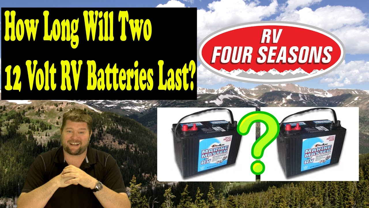 How Long Will Two 12 Volt Rv Batteries Last Youtube Wiring 12v In Parallel