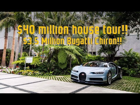 $3.5 MILLION Bugatti Chiron DRIVE and $40 MILLION Mansion Tour!!