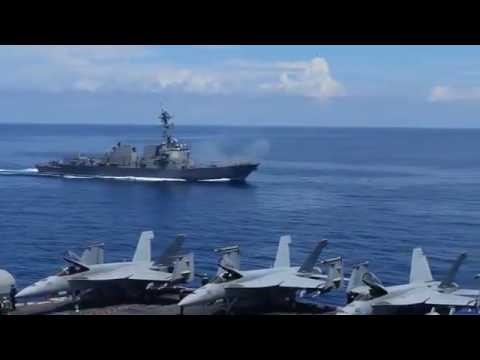US Navy Strike Group Show of Force in West Philippine Sea