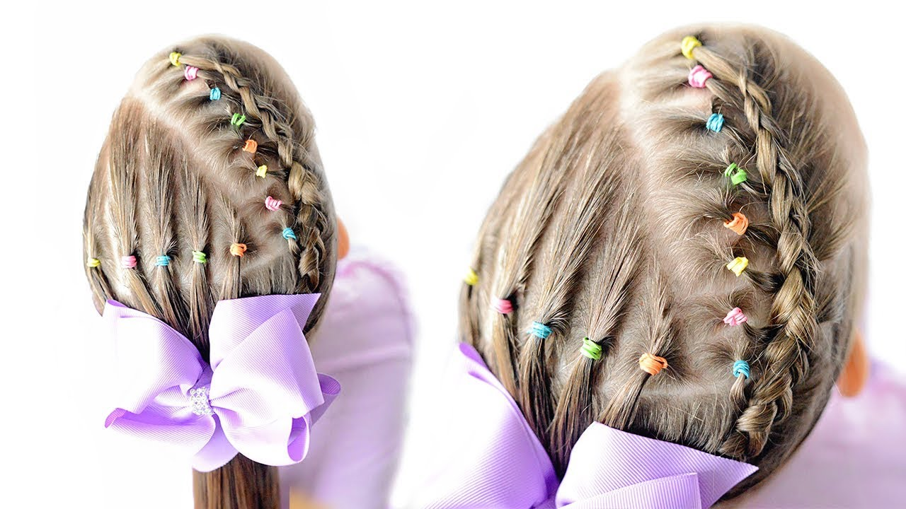 little girls hairstyles with rubber