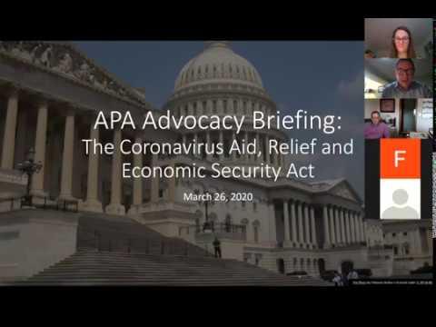 Coronavirus Relief for Communities: APA Breaks It Down