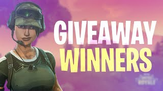 THE GIVEAWAY WINNERS (fortnite battle royale)