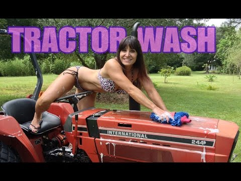 Remarkable, bikini girls washing tractor apologise, but