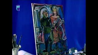 """Уроки рисования (№ 132) масляными красками. Рисуем картину """"Встреча с императрицей"""""""