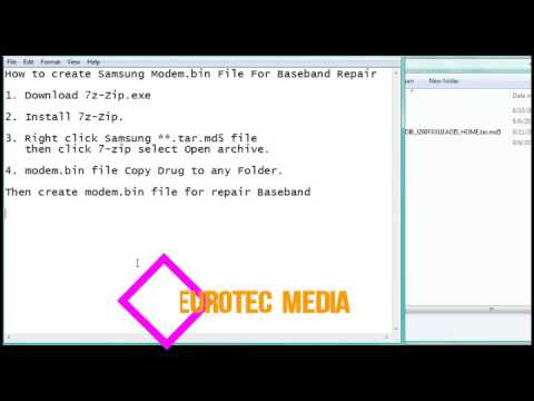 How to create Samsung modem bin File For Baseband repair