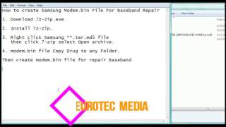 how to create samsung modem bin file for baseband repair