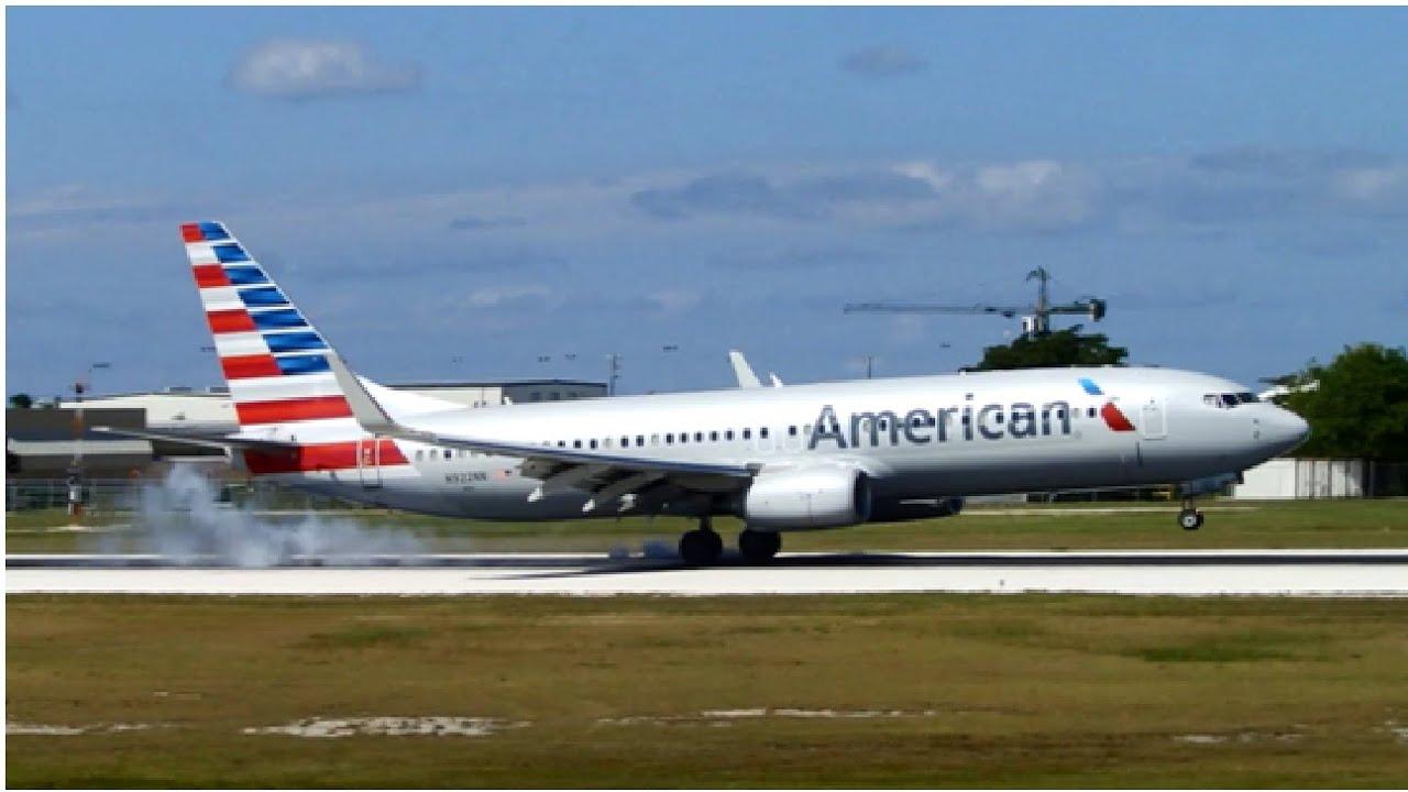 American Airlines Boeing 737 800 N922nn Landing In Grand