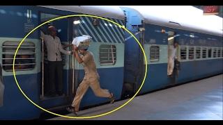 Railway Station Scenario in 4K - Udyan Express Attracts Wada Pav Vendors, Travellers  & All