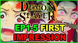 Demon Slayer - OverHyped Or Anime of The Year? | Demon Slayer Anime First Impressions | Foxen Review