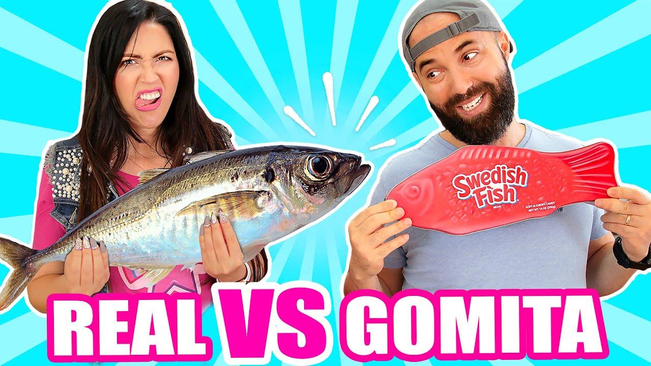 Comida de GOMA vs REAL! PESCADO y algo muy ASQUEROSO EXTREMO 😱 Food Challenge - SandraCiresArt