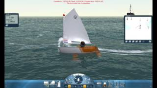Sail Simulator 5 sailing the Optimist