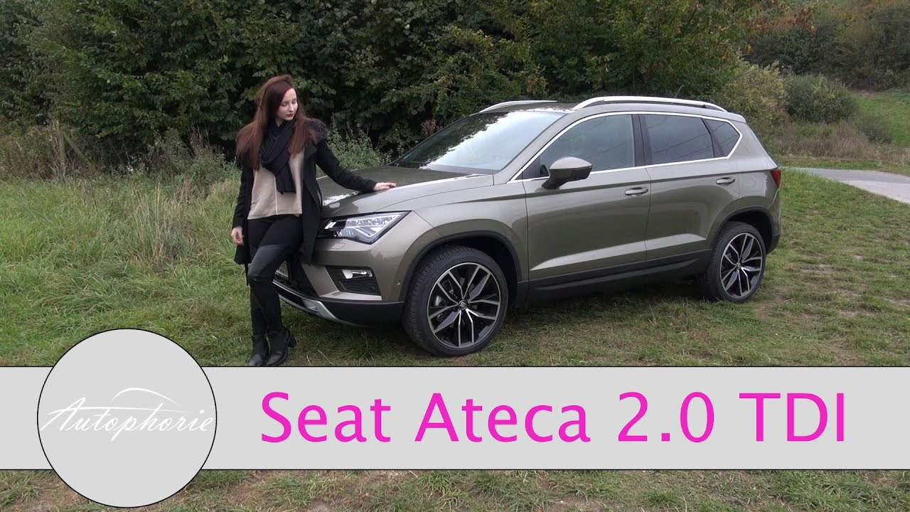 2016 seat ateca 2 0 tdi 4drive 150 ps test girls review autophorie youtube. Black Bedroom Furniture Sets. Home Design Ideas
