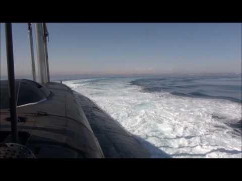 Пуск крылатой ракеты «Гранит» с АПЛ «Томск» Тихоокеанского флота