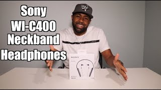 Best Neckband Headphones under $50? Sony WI-C400 Review