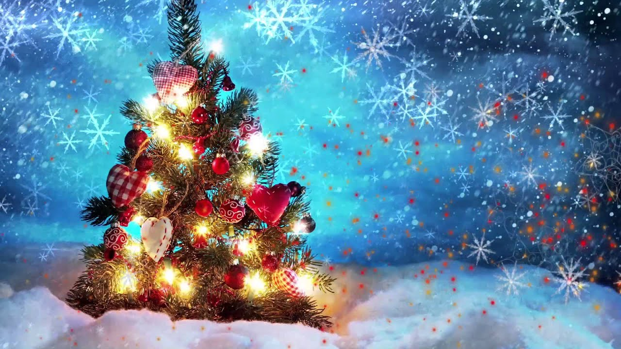 Christmas Animated Video Background Loop - YouTube