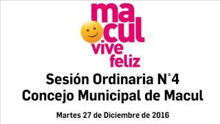Sesión Concejo Municipal de Macul 27-12-2016