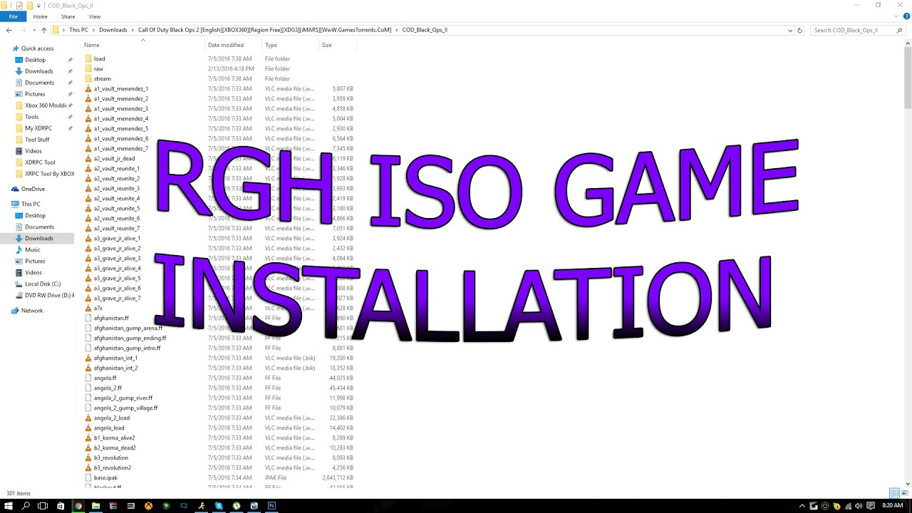 How To Install Iso Extracted Rgh Games Rgh Jtag Only Youtube