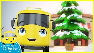 Buster's First Snowy Christmas - Song! | Go Buster | Baby Cartoons | Kids Videos | ABCs and 123s