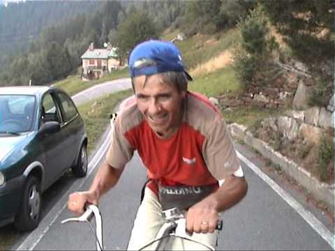 Salita del Mortirolo con bici Graziella di Franco Cacciatori in ricordo a Marco Pantani!