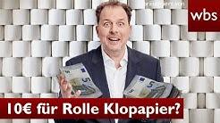 Corona: Rolle Klopapier für 10 Euro – ist das Wucher? | Rechtsanwalt Christian Solmecke