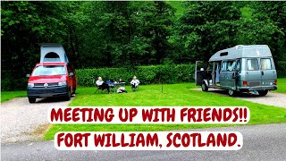 We meet up with friends in Fort William. Scotland campervan trip. July 2017.