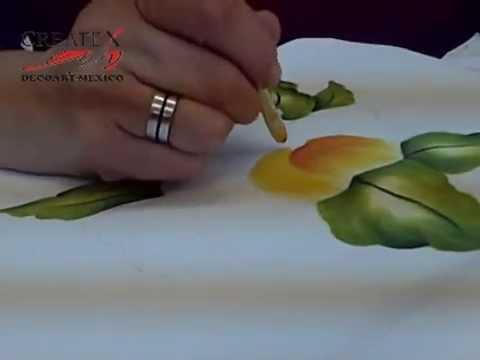 Pintando tela tutorial createx youtube - Como pintar sobre tela ...