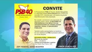 Em Russas, Júnior Gonçalves suplente de deputado Federal, muda de partido e faz convite a população