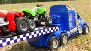 TOY TRUCK TRANSPORTATION QUADROBIKE VIDEO FOR KIDS